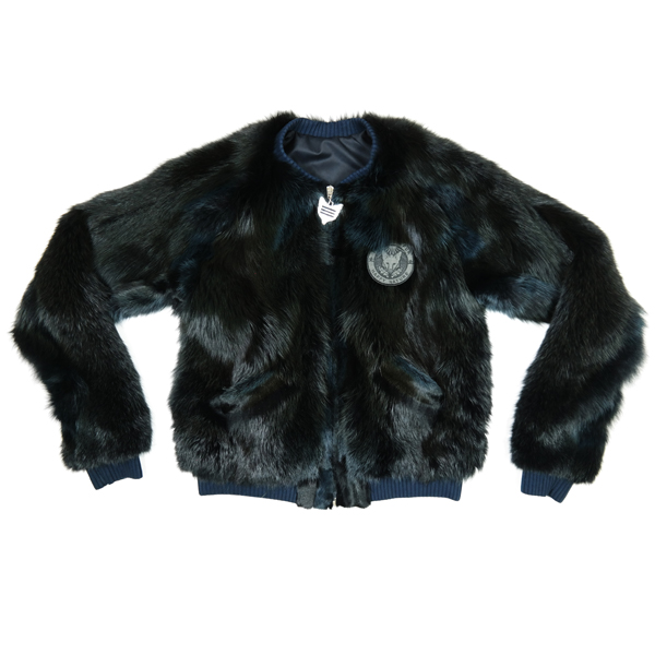Friendly Fur Shop Classic Category Picture Bomber Jacket Homerun Black