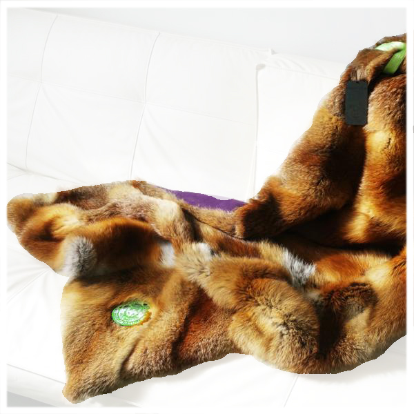 Friendly Fur Shop Interior Blanket Pop Nature Fox Purple Cashmere